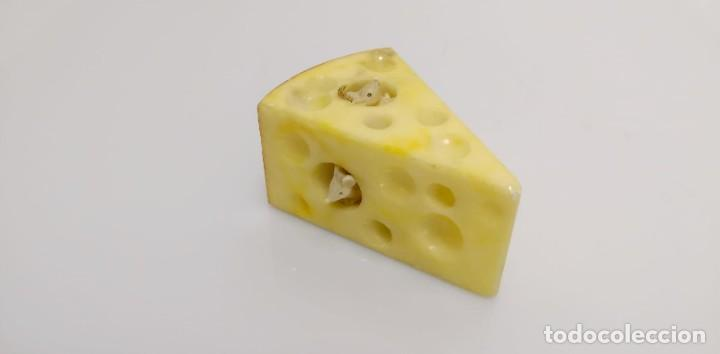 Arte: Cuña de queso con ratones en alabastro, Italia 1970s - Foto 2 - 245489685