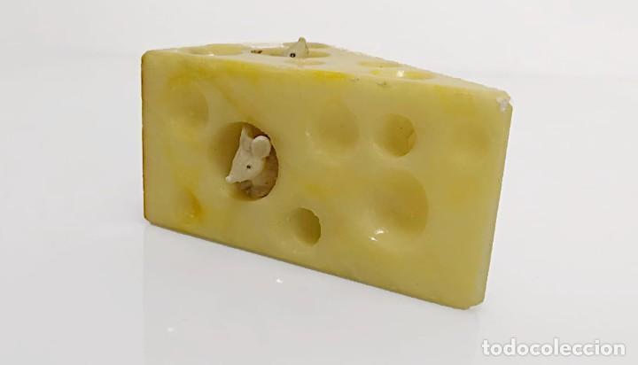 Arte: Cuña de queso con ratones en alabastro, Italia 1970s - Foto 3 - 245489685