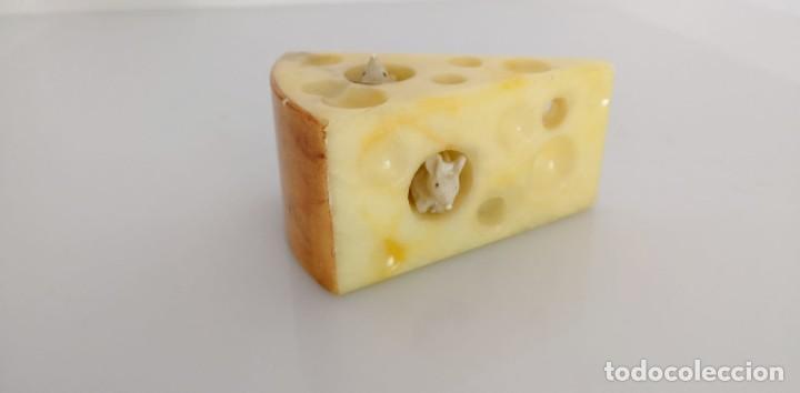 Arte: Cuña de queso con ratones en alabastro, Italia 1970s - Foto 5 - 245489685