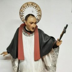 Arte: (ANT-210345)TALLA DE SAN LUIS GONZAGA - OJOS DE CRISTAL - FINALES SIGLO XIX PRINCIPIOS DE 20. Lote 245785465