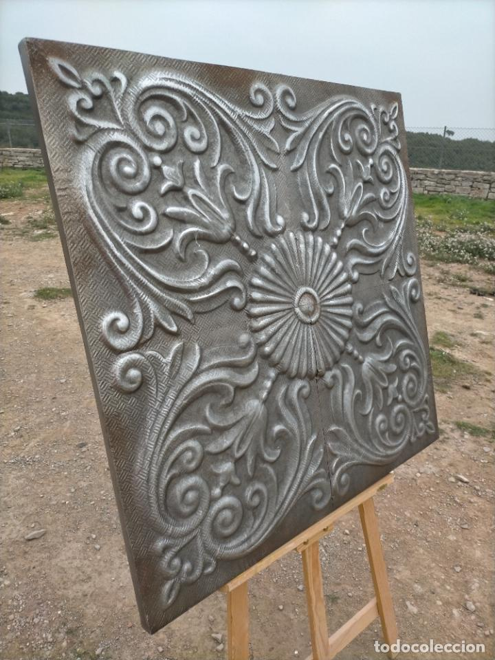 Arte: Cuadro escultura hecho con plancha de hierro prensada - Foto 2 - 245960480