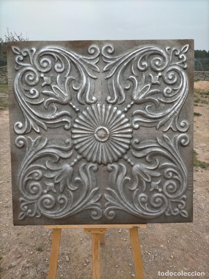 CUADRO ESCULTURA HECHO CON PLANCHA DE HIERRO PRENSADA (Arte - Escultura - Hierro)