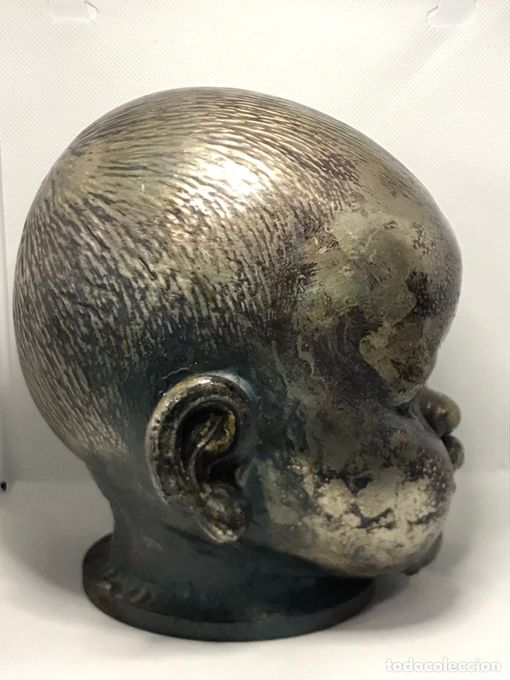 Arte: Busto de metal cabeza de bebe - Foto 5 - 246009765