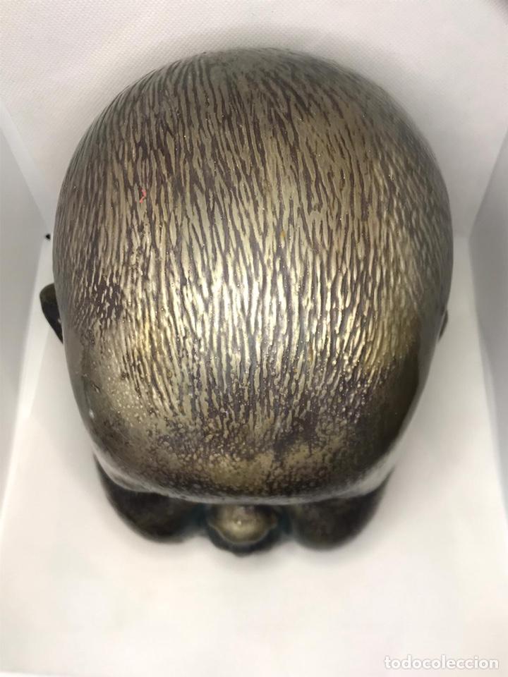 Arte: Busto de metal cabeza de bebe - Foto 9 - 246009765
