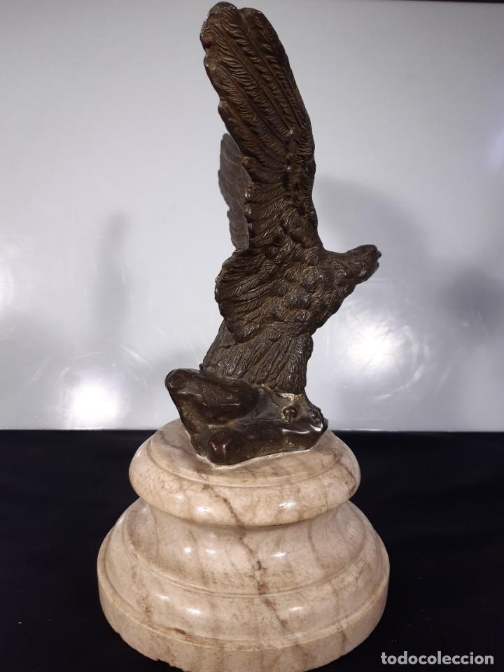 Arte: Águila. Bronce y piedra. Siglo XX. - Foto 4 - 246455495