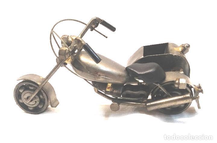 Arte: Chooper con Sidecar Artesania en Acero y hierro. Med. 18 cm - Foto 3 - 247817635
