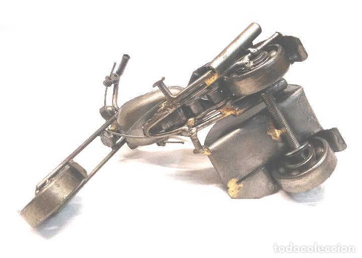 Arte: Chooper con Sidecar Artesania en Acero y hierro. Med. 18 cm - Foto 4 - 247817635
