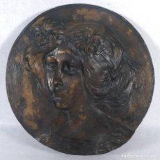 Arte: LAMBERT ESCALER I MILA (1974-1957) RELIEVE EN BRONCE BUSTO FEMENINO FIRMADO TIRADA 1/6. Lote 248083175