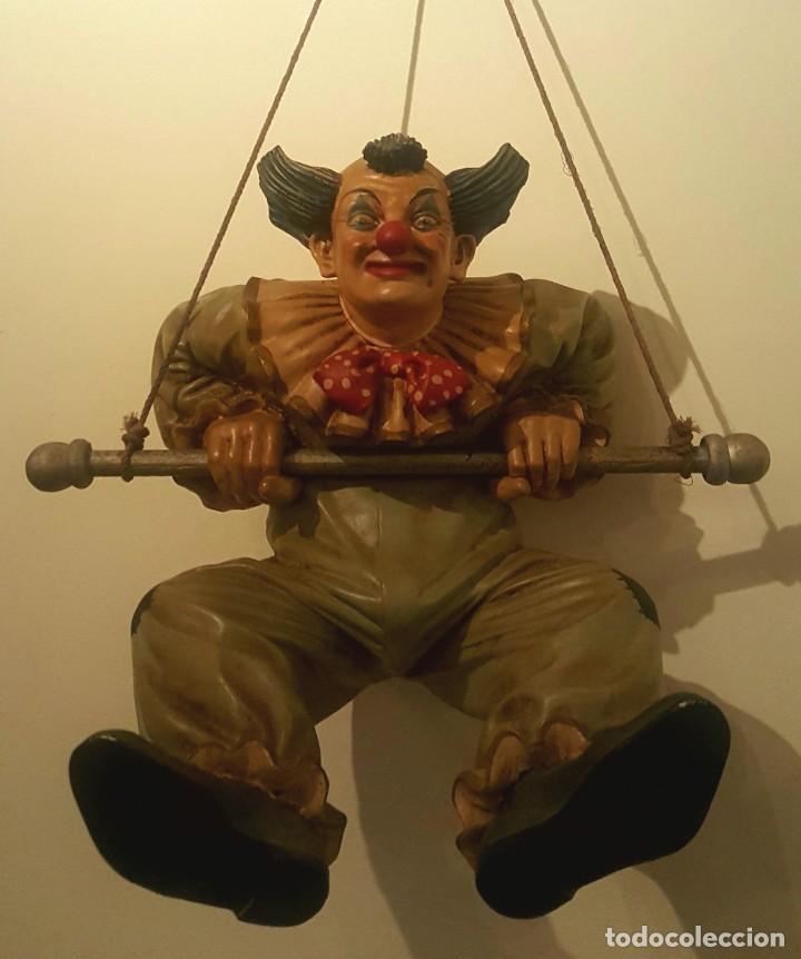JUN ASILO 1996. CLOWN PAGLIACCIO (Arte - Escultura - Resina)
