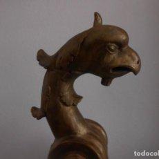 Arte: GARGOLA DE MADERA TALLADA ANTIGUA O ANIMAL ZOOMORFO. Lote 252489730