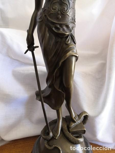 Arte: ESCULTURA EN BRONCE SOBRE BASE DE MÁRMOL , LA JUSTÍCIA - Foto 3 - 253620950