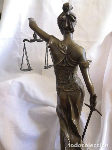Arte: ESCULTURA EN BRONCE SOBRE BASE DE MÁRMOL , LA JUSTÍCIA - Foto 5 - 253620950