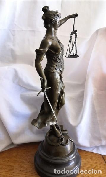 Arte: ESCULTURA EN BRONCE SOBRE BASE DE MÁRMOL , LA JUSTÍCIA - Foto 7 - 253620950