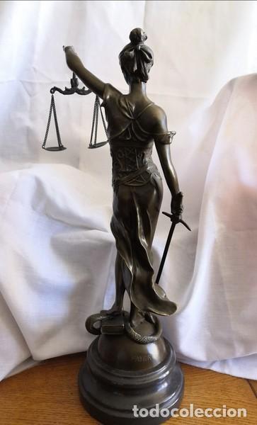 Arte: ESCULTURA EN BRONCE SOBRE BASE DE MÁRMOL , LA JUSTÍCIA - Foto 8 - 253620950