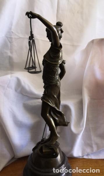 Arte: ESCULTURA EN BRONCE SOBRE BASE DE MÁRMOL , LA JUSTÍCIA - Foto 9 - 253620950