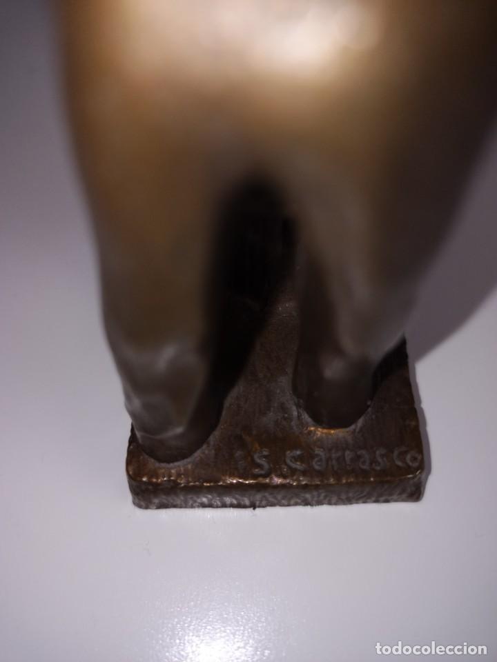 Arte: Escultura en bronce firmada S. Carrasco que representa un herrero trabajando sobre un yunque - Foto 5 - 254157755