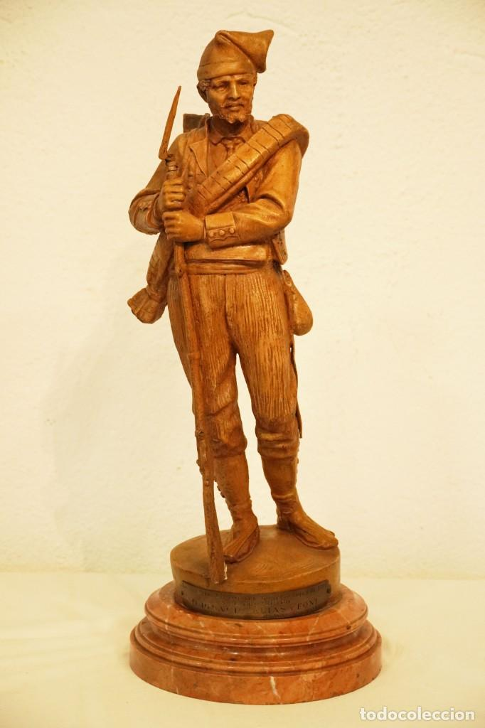 JOSEP CAMPENY SANTAMARIA (1858-1922) - LOS VOLUNTARIOS CATALANES DE LA GUERRA DE AFRICA DE 1860. (Arte - Escultura - Terracota )