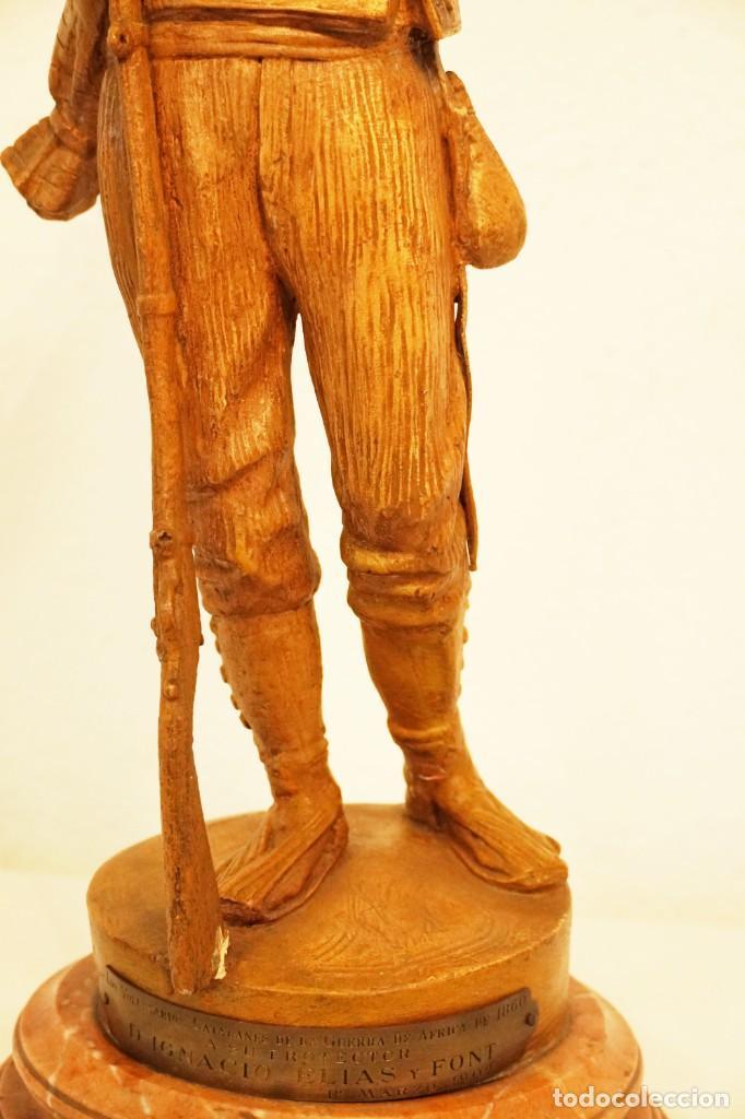 Arte: JOSEP CAMPENY SANTAMARIA (1858-1922) - LOS VOLUNTARIOS CATALANES DE LA GUERRA DE AFRICA DE 1860. - Foto 11 - 254579730