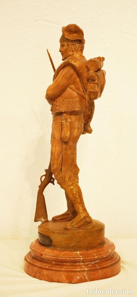 Arte: JOSEP CAMPENY SANTAMARIA (1858-1922) - LOS VOLUNTARIOS CATALANES DE LA GUERRA DE AFRICA DE 1860. - Foto 3 - 254579730
