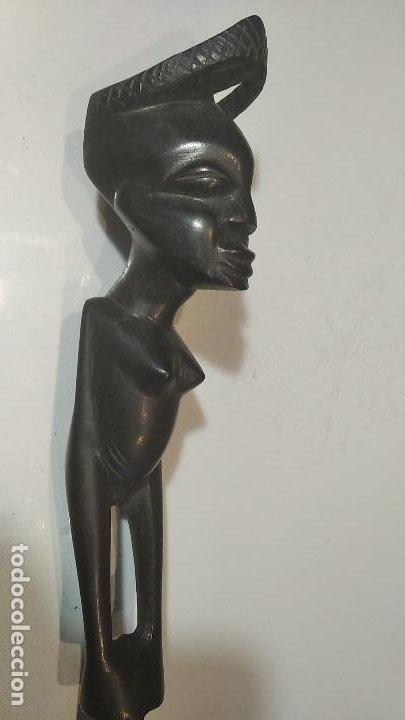 Arte: Arte etnico africano Ebano Abrecartas perfecto - Foto 3 - 255019705