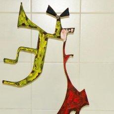 Arte: JOAQUIM FALCÓ PUJOL-ESCULTURA-NIÑA CON RAQUETA - PIEZA ÚNICA. Lote 255421660