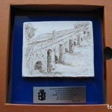 Arte: ESCULTURA RELIEVE SOBRE LAMINA PETREA DEL FAMOSO ESCULTOR JAVIER SANZ DEL CANAL DE CASTILLA ENCARGA. Lote 255490050