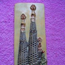 Arte: TEMPLO DE LA SAGRADA FAMILIA PLACA DE PORCELANA CON RELIEVE 1991. Lote 255558505