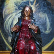 Arte: PRECIOSA Y ANTIGUA TALLA DE VIRGEN COLONIAL 48 CM. Lote 255930030