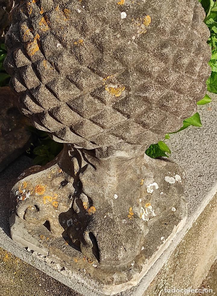 Arte: Antigua Decoración de Entrada para Pilares, Jardín - Pareja de Piñas - Finales S. XIX - Foto 3 - 256019680
