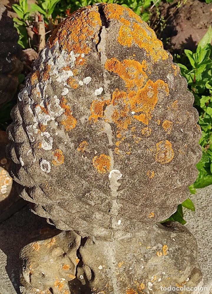 Arte: Antigua Decoración de Entrada para Pilares, Jardín - Pareja de Piñas - Finales S. XIX - Foto 11 - 256019680