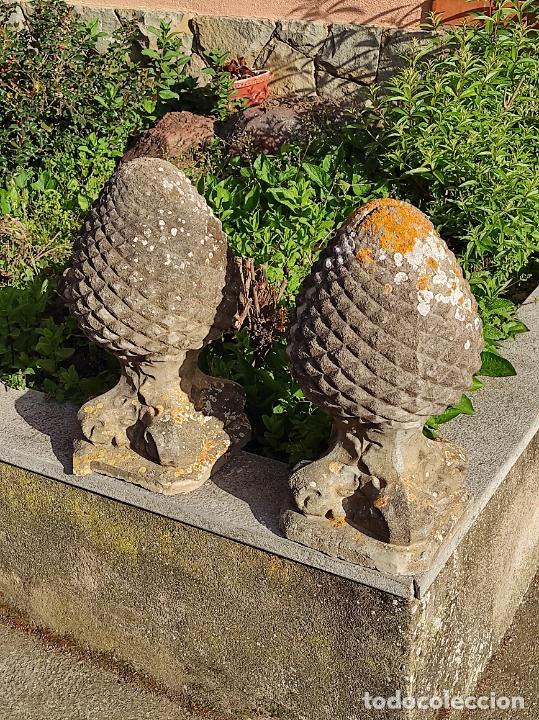 Arte: Antigua Decoración de Entrada para Pilares, Jardín - Pareja de Piñas - Finales S. XIX - Foto 14 - 256019680