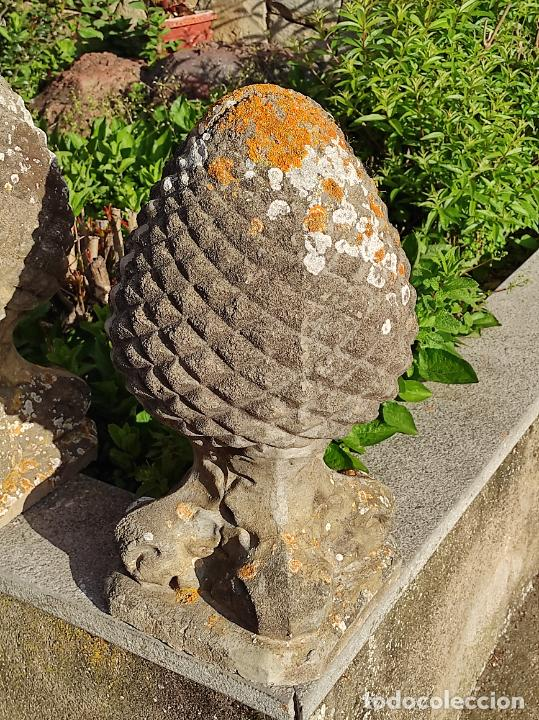 Arte: Antigua Decoración de Entrada para Pilares, Jardín - Pareja de Piñas - Finales S. XIX - Foto 15 - 256019680