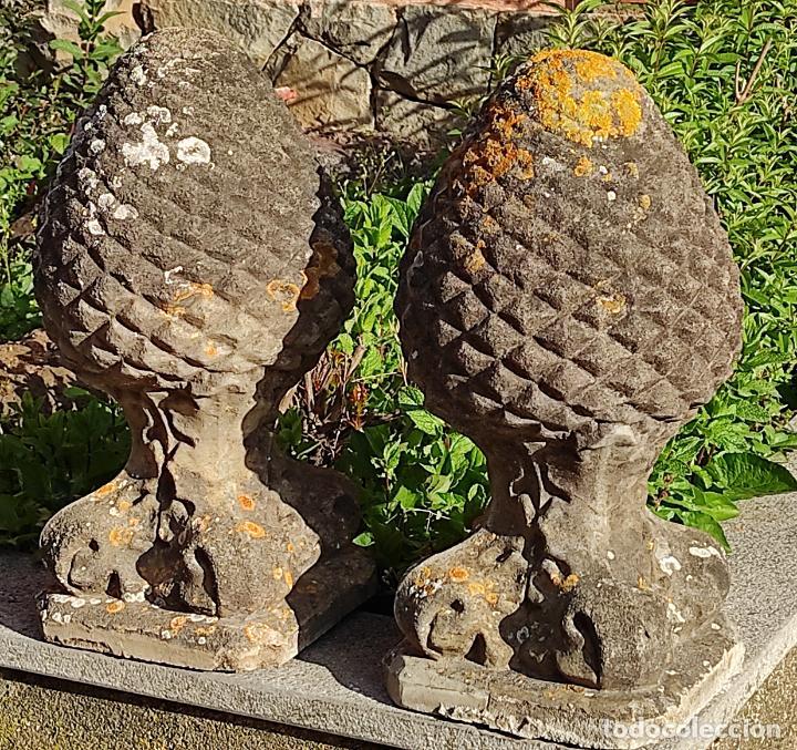 Arte: Antigua Decoración de Entrada para Pilares, Jardín - Pareja de Piñas - Finales S. XIX - Foto 17 - 256019680