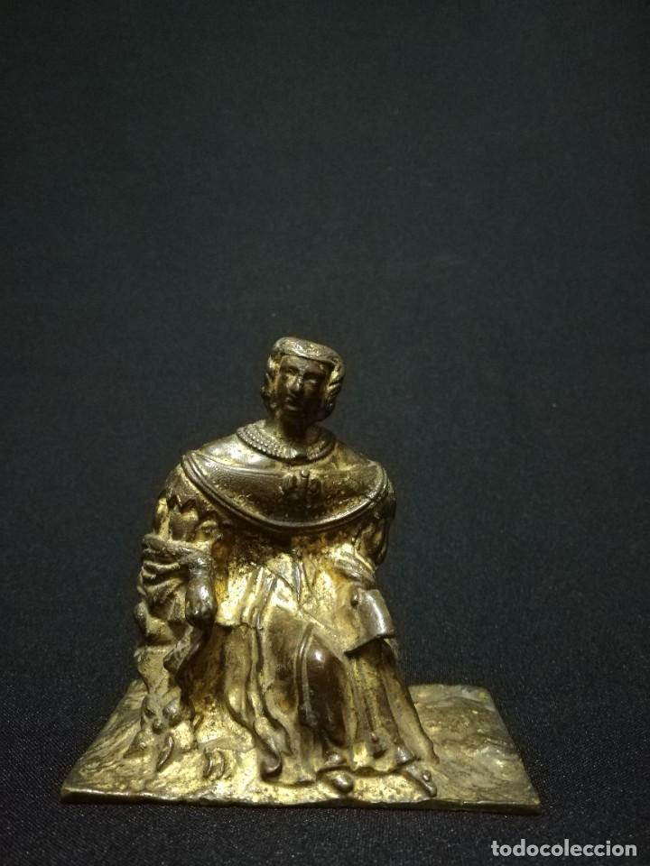 FIGURA DE DAMA EN BRONCE DORADO S. XIX (Arte - Escultura - Bronce)