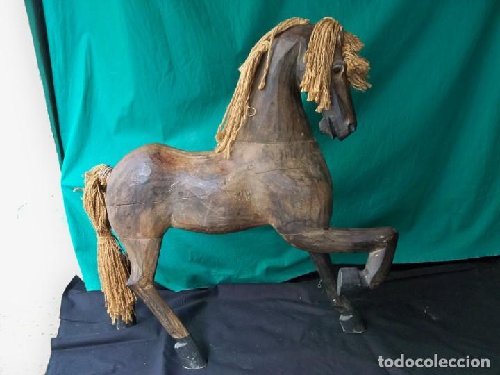 Arte: Antiguo caballo de madera - Foto 2 - 255445140