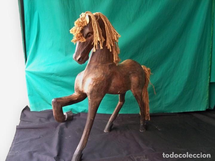Arte: Antiguo caballo de madera - Foto 3 - 255445140