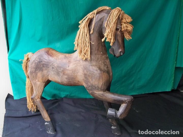 Arte: Antiguo caballo de madera - Foto 4 - 255445140