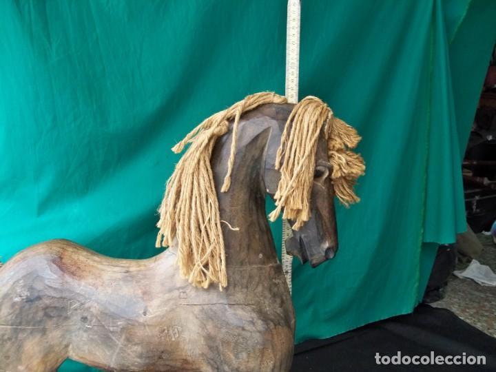 Arte: Antiguo caballo de madera - Foto 5 - 255445140