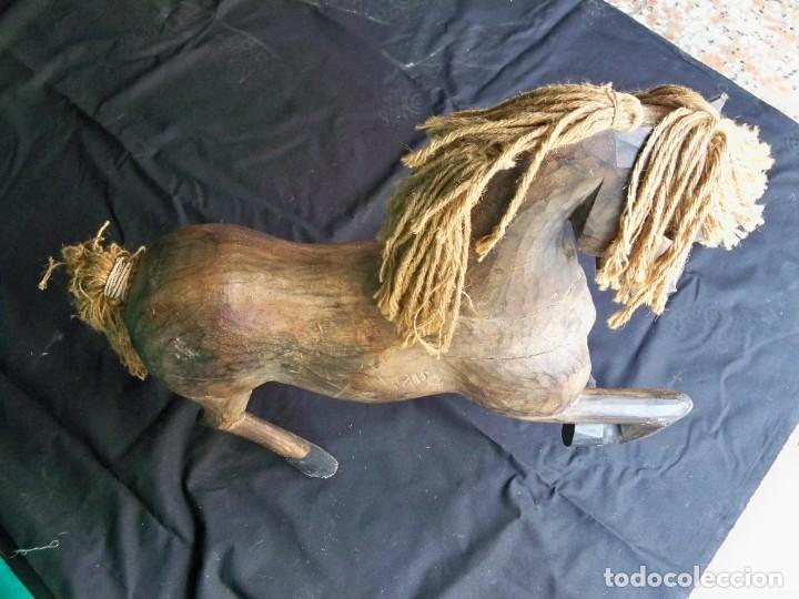 Arte: Antiguo caballo de madera - Foto 7 - 255445140