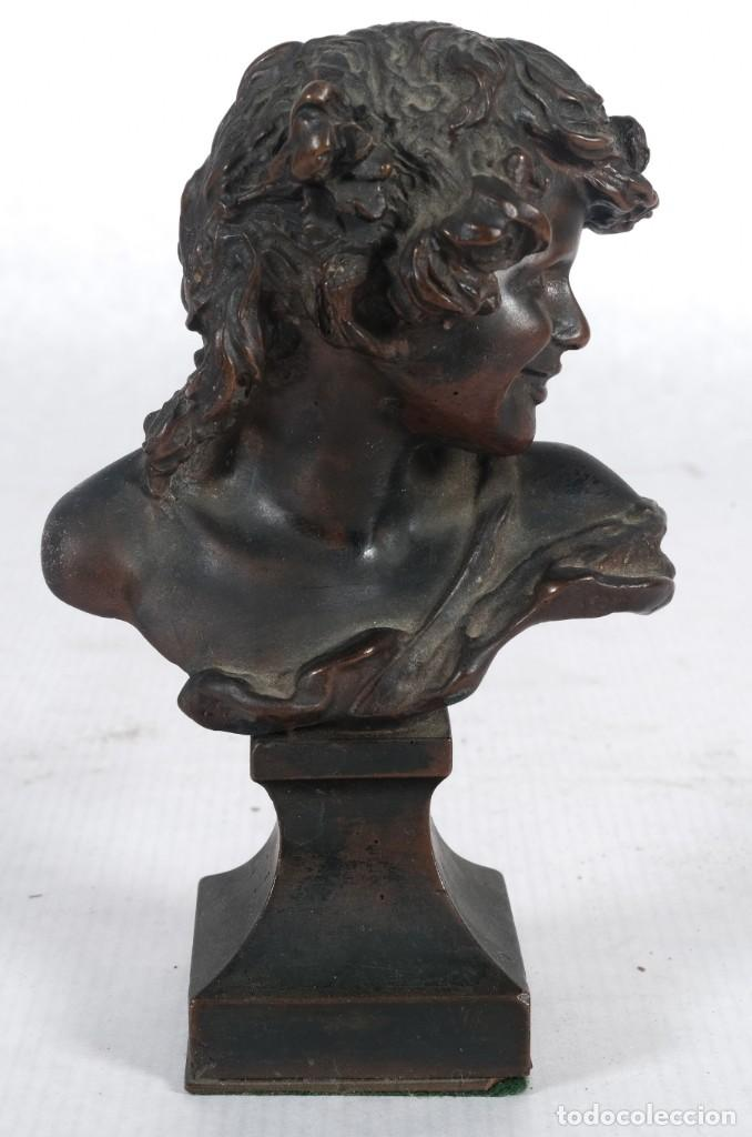 Arte: Busto de dama en bronce firma ilegible siglo XIX - Foto 2 - 257330120
