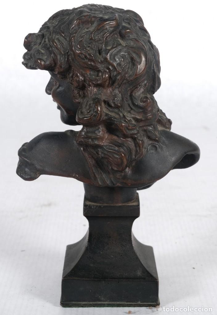 Arte: Busto de dama en bronce firma ilegible siglo XIX - Foto 4 - 257330120