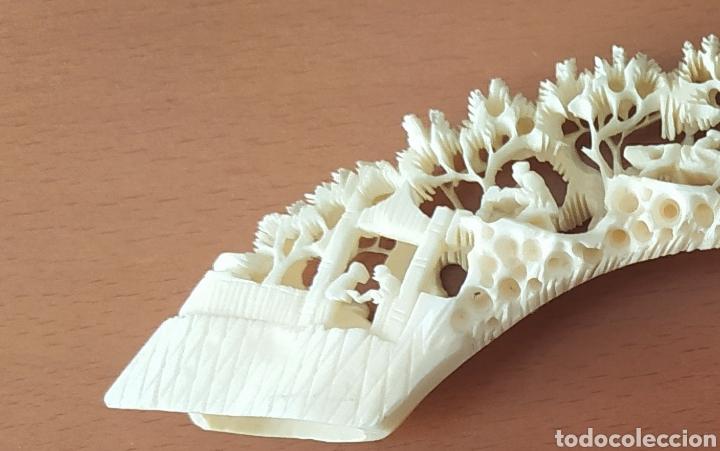 Arte: Colmillo marfil tallado con peana - Foto 7 - 257881850