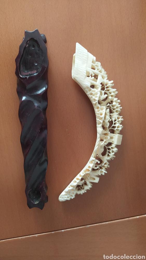 Arte: Colmillo marfil tallado con peana - Foto 4 - 257881850