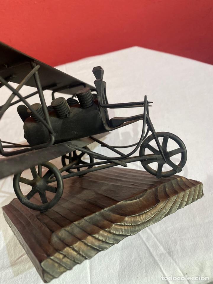 Arte: Antigua escultura avión hierro. Ver fotos - Foto 7 - 257882850
