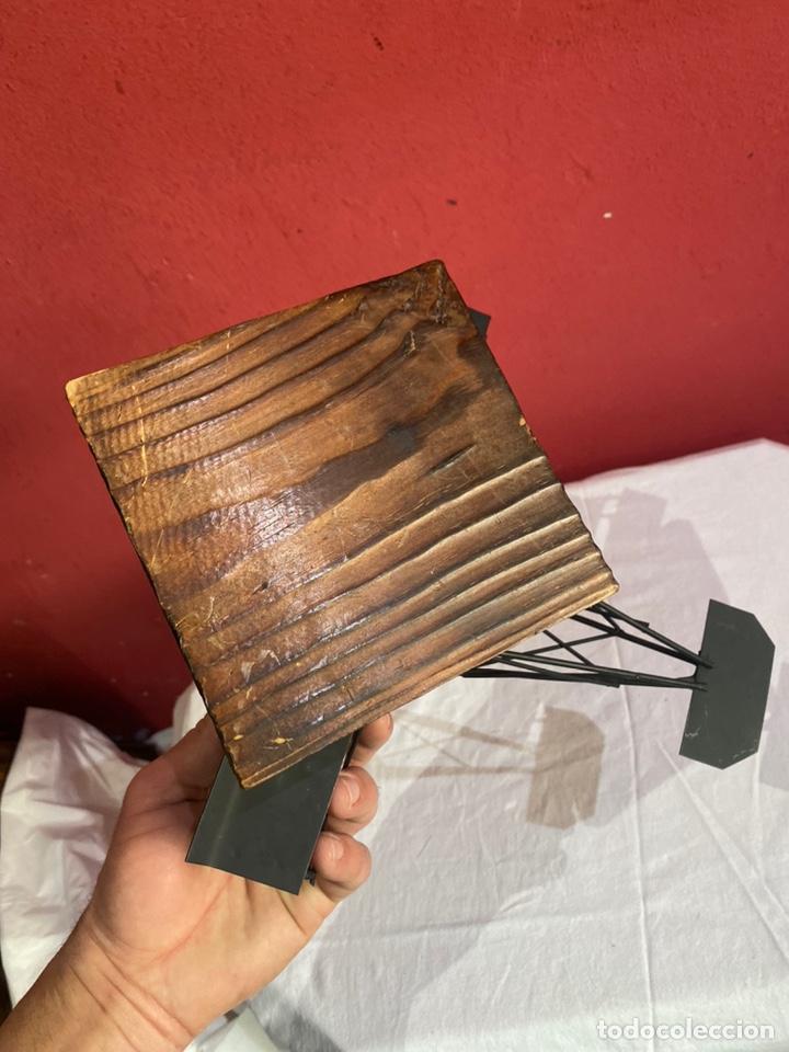 Arte: Antigua escultura avión hierro. Ver fotos - Foto 9 - 257882850