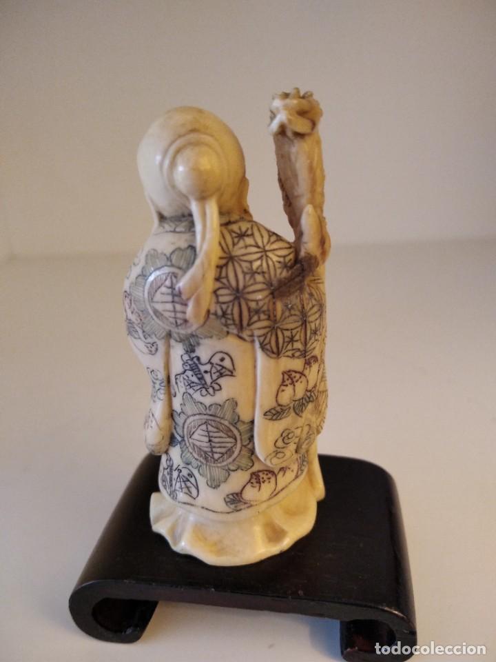 Arte: Netsuke de marfil,mitad sXX - Foto 2 - 258497140