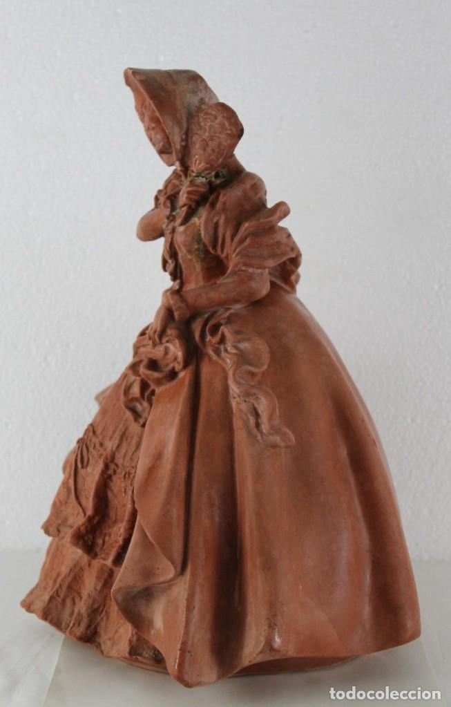 Arte: Dama dieciochesca en terracota de principios del siglo XX - Foto 8 - 259878300