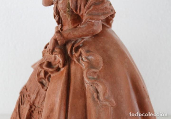 Arte: Dama dieciochesca en terracota de principios del siglo XX - Foto 9 - 259878300
