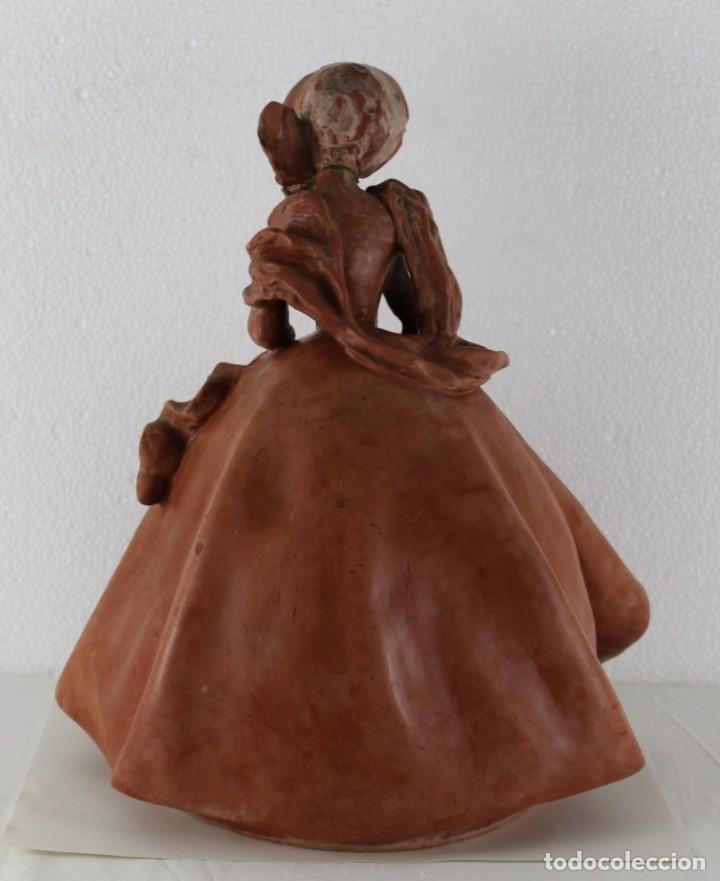 Arte: Dama dieciochesca en terracota de principios del siglo XX - Foto 11 - 259878300