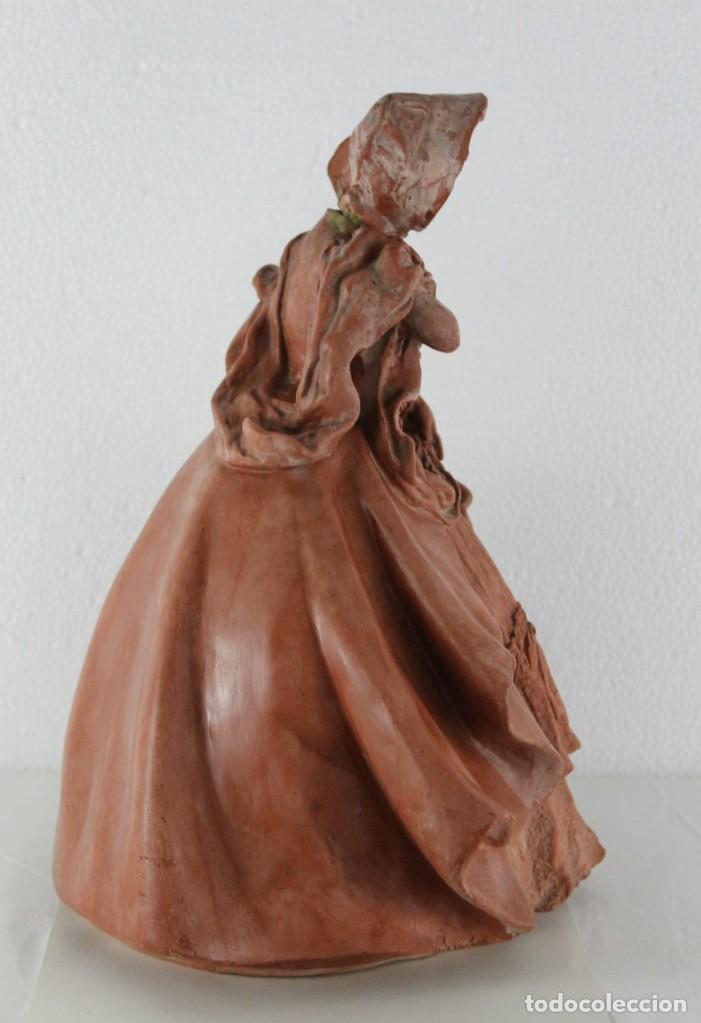 Arte: Dama dieciochesca en terracota de principios del siglo XX - Foto 13 - 259878300